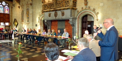 De seniorenraad van Mechelen bezoekt Oudenaarde